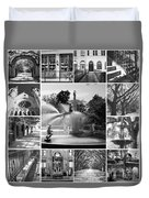 Savannah Collage Black And White Duvet Cover