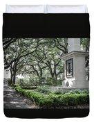 Historic Wright Square - Downtown Savannah Georgia Duvet Cover