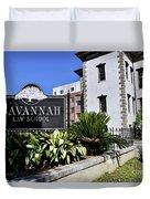 Savannah Law School Duvet Cover