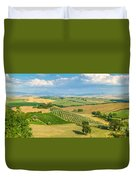 Scenic Tuscany Landscape At Sunset, Val D'orcia, Italy Duvet Cover