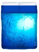 School Of Bigeye Jacks Duvet Cover