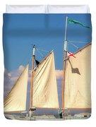 Schooner On Mobile Bay Duvet Cover