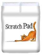 Scratchy Cat Duvet Cover