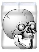 Screaming Skull Duvet Cover