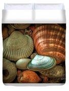 Sea Pebbles With Shells Duvet Cover