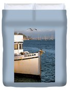 Seagull Morro Bay California Duvet Cover