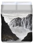 Seal Rock Waves And Rocks 2 Duvet Cover