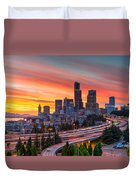 Seattle On Firer Duvet Cover