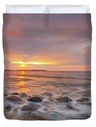 Seawall Sunrise Duvet Cover