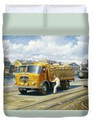 Seddon At Poole Docks. Duvet Cover
