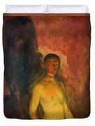 Self Portrait In Hell Duvet Cover