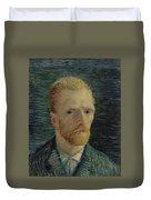 Self-portrait Paris July  August 1887 Vincent Van Gogh 1853  1890  Duvet Cover