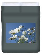 Sensation Cosmos Bipinnatus White Cosmos Standing Up Towerd Sk Duvet Cover