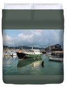 September Morning - Lyme Regis Harbour Duvet Cover
