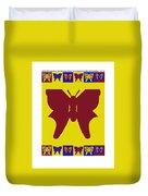 Serendipity Butterflies Brickgoldblue 5 Duvet Cover