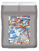 shark attack  - Challenge 2017 Find a Cure Duvet Cover