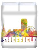 Sheffield England Skyline Duvet Cover
