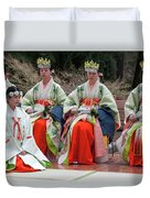 Shrine Maidens From Tsurugaoka Hachimangu Shrine Duvet Cover