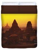 Shwesandaw Paya Temples Duvet Cover