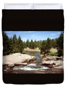 Sierra Nevada Mountain Stream Duvet Cover