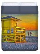 Siesta Key Sunset Duvet Cover