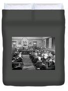 Silent Still: Courtroom Duvet Cover