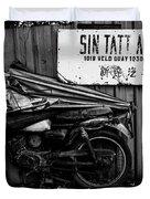 Sin Tatt Auto Works Duvet Cover