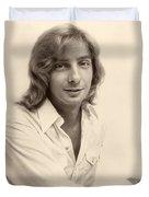 Singer Barry Manilow 1975 Duvet Cover