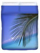 Single Palm Frond Duvet Cover