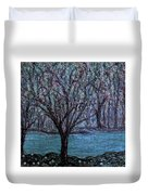 Single Tree On The Grand River Duvet Cover