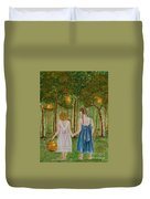 Sisters At Twilight Duvet Cover