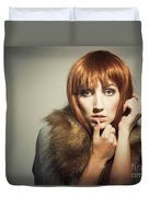 Sixties Era Fashion Look Duvet Cover