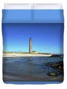 Skagen Denmark - Lighthouse Grey Tower Duvet Cover
