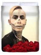 Skull Tux And Roses Duvet Cover