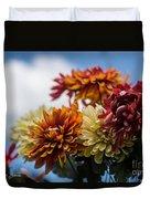 Sky Flowers Duvet Cover