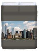 Skyline Of New York City - Lower Manhattan Duvet Cover