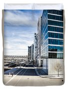 Skyscraper Architectural Details And Structures In Oslo Duvet Cover