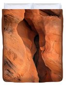 Slot Cave Valley Of Fire Duvet Cover