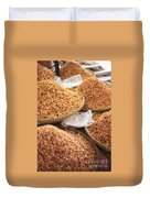 Small Asian Dried Shrimp In Kep Market Cambodia Duvet Cover