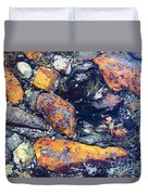 Small Rocks On The Beach Duvet Cover