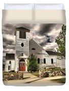 Small Town Church Duvet Cover