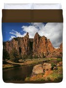Smith Rock State Park - Oregon Duvet Cover