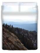 Smoky Evening Vista Over Kings Canyon Duvet Cover
