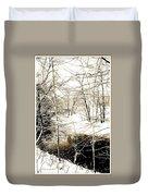 Snow-covered Stream Banks, Pennsylvania Duvet Cover