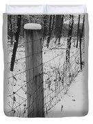 Snow Fence Duvet Cover