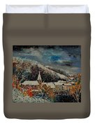 Snow In Bohan Duvet Cover