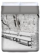 Snow In Central Park Nyc Duvet Cover
