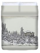 Snow In July Duvet Cover