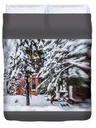 Snow... Duvet Cover