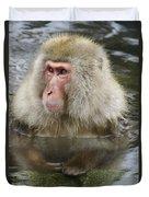 Snow Monkey Bath Duvet Cover